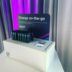 Charging in the Go! Get your own branded station for your next event. #eventcharging #phonecharging #chargingstation